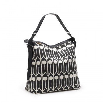 Messenger bag Feathers Black/White